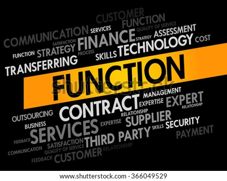Function business concept words cloud - stock photo