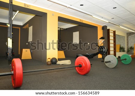 Functional - Fitness and CrossFit in a gym - stock photo