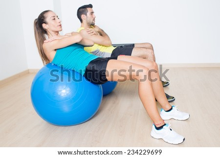 Functional training duo - stock photo