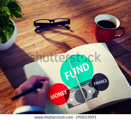 Fund Budget Business Finance Money Profit Wealth Concept - stock photo