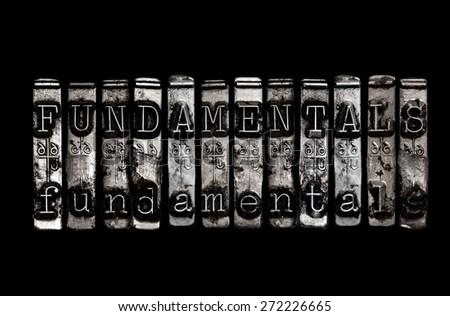 Fundamentals - stock photo