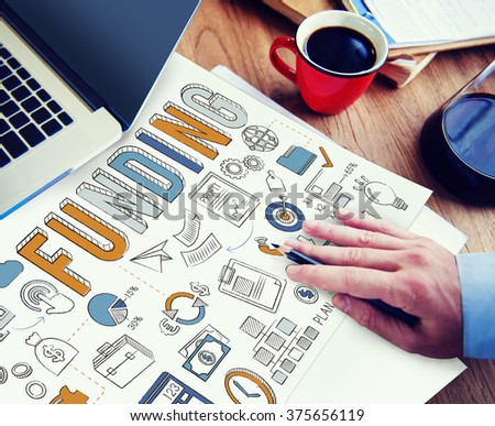 Funding Economy FInancial Collection Fund Concept - stock photo
