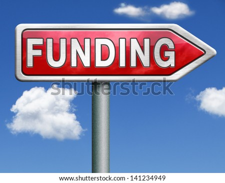 funding fund raising for charity money donation for non profit organization red road sign arrow with text and word concept - stock photo