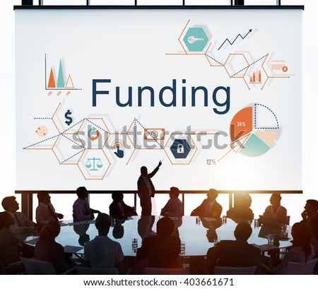 Funding Invest Financial Money Budget Concept - stock photo