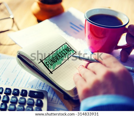 Fundraiser Funding Finance Economy Donation Concept - stock photo