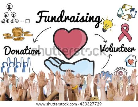 Fundraising Donation Heart Charity Welfare Concept - stock photo