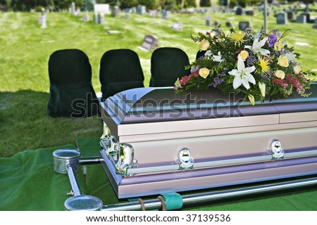 Funeral Casket - stock photo