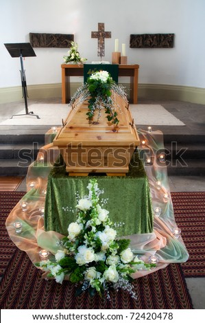 Funeral service - stock photo