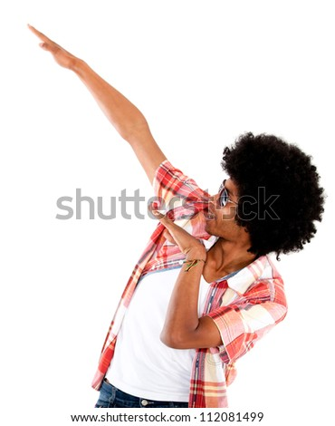 Funky afro man - isolated over a white background - stock photo