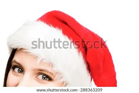 Funky Christmas Woman - stock photo