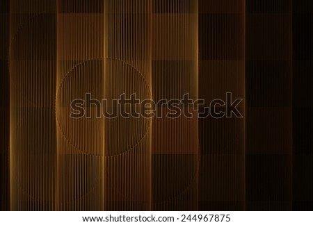 Funky copper checkered string / wire design on black background - stock photo