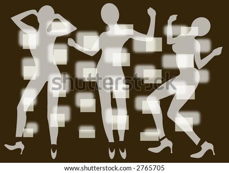 Funky Dancers 8 - stock photo