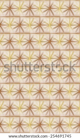 Funky orange / yellow abstract woven flower design on white background (tile able)  - stock photo