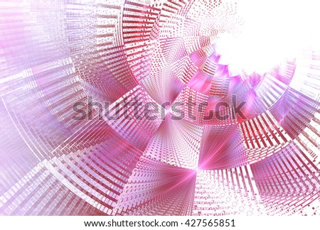 Funky pink / purple abstract checkered curve design on white background