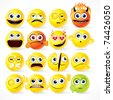 Funky Smileys ( version vector please see at my gallery ) - stock vector