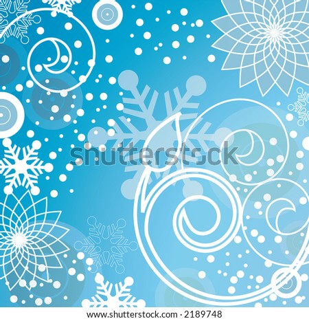 funky winter background series