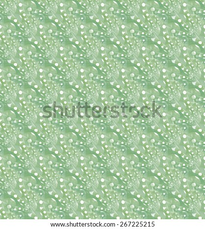 Funky woven green wavy disc design on white background (tile able)  - stock photo