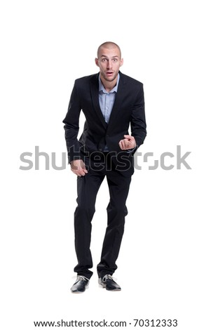 funky young businessman - stock photo