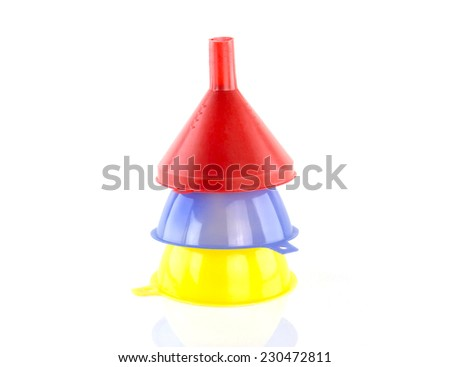 funnel isolated on white background - stock photo
