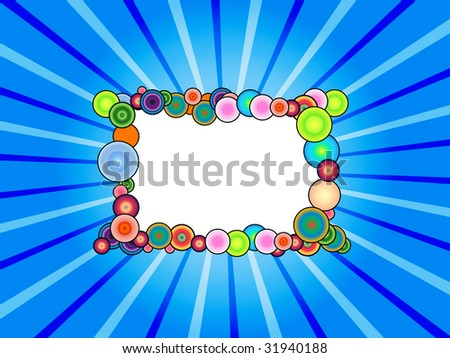 Funny Abstract Frame On Sunbeam Background - stock photo