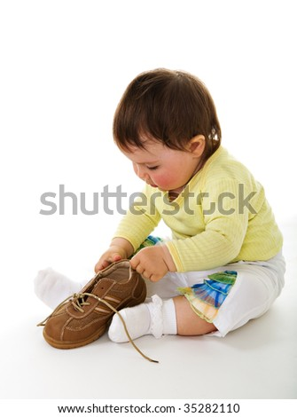 Funny baby - stock photo