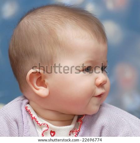 Funny baby girl - stock photo