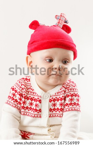 funny boy in nice christmas costume