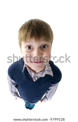 Funny  boy. Isolated over white background