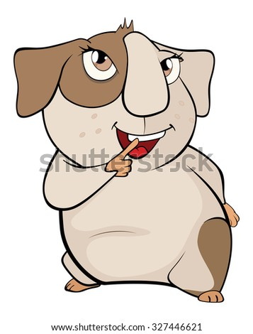Funny brown guinea pig cartoon