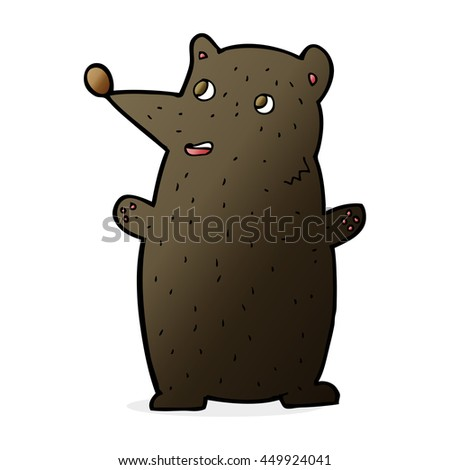 funny cartoon black bear