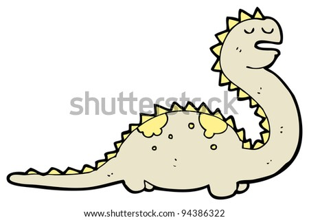 funny cartoon dinosaur (raster version)