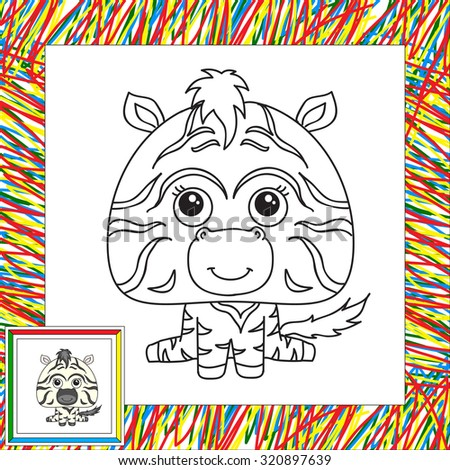 Cartoon Owl Coloring Book Border Illustration Stock Illustration ...