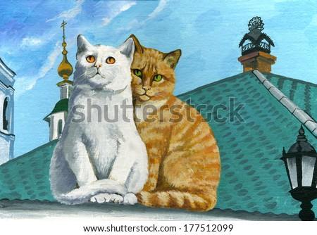 funny cat - stock photo