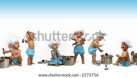 Funny Chef's - stock photo