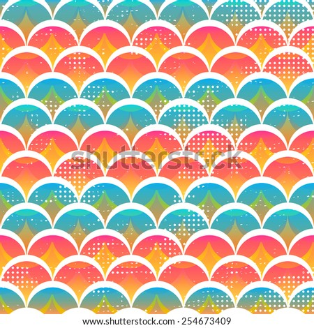 funny circle seamless pattern (raster version) - stock photo