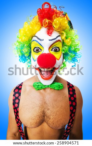 Funny clown isolated  - stock photo