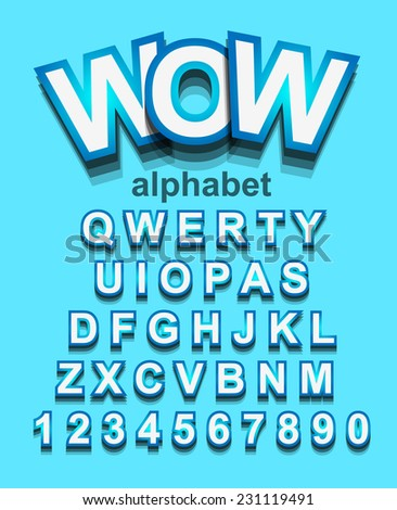 Funny Colorful Alphapet Font to use for children's parties invitations, school event posters, funny games descriptions, litttle boys brochure and so on! - stock photo