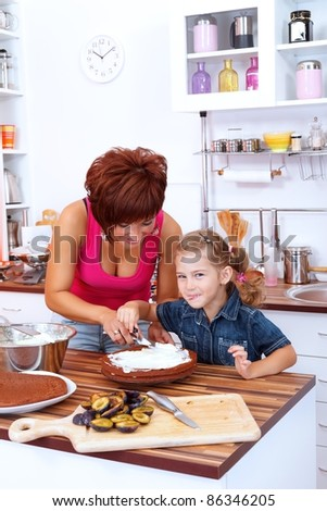 Funny cooking in the kitchen - stock photo