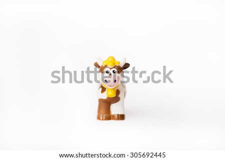 Funny cow toy - stock photo