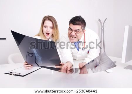 funny doctors - stock photo