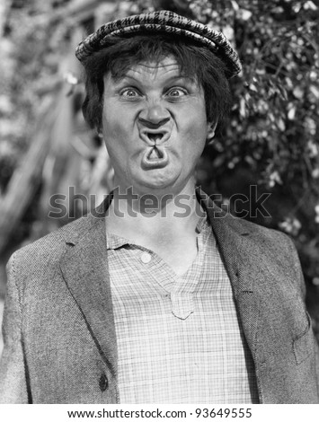FUNNY FACE - stock photo