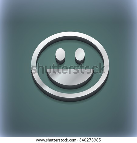 funny Face icon symbol. 3D style. Trendy, modern design with space for your text illustration. Raster version - stock photo