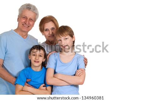 Funny family having a good leisure time in each other's company