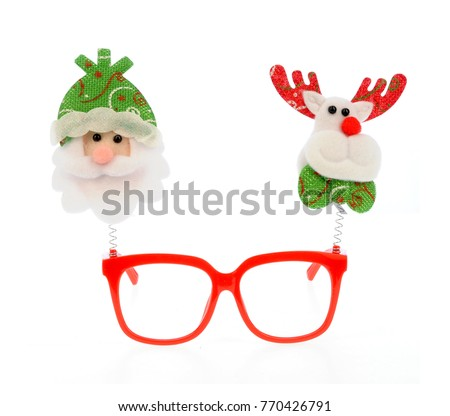 Funny Frames Glasses Christmas Decor Isolated Stock Photo (Edit Now ...