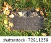 funny historic grave stone - stock photo