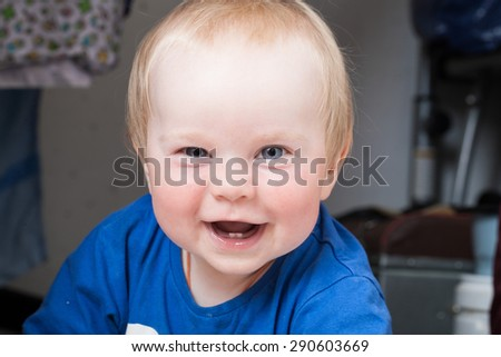 funny kid baby - stock photo