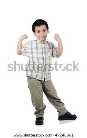 funny kid boy - stock photo