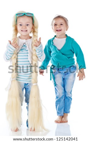 Funny kids - stock photo