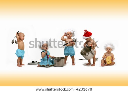 funny kitchen - stock photo