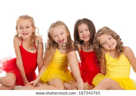 Funny little dancer - stock photo